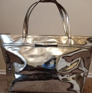 Kate Spade Silver Large Tote